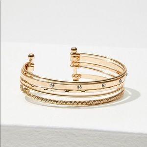 Loft Rose Gold Metallic Cuff Bracelet NWT